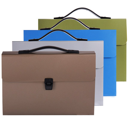 Deli 1 Pc Colorful Plastic Organ Bag Folder Wallet A4 Document Bags For Business 340x250x40mm Filing Products 20D5648 4 Colors