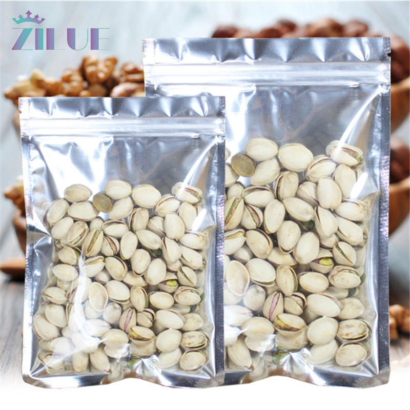 US $7 66 |Zilue 100pcs/Lot Foil Bag 3 Sizes Self Sealing Aluminum  Translucent Biscuit Packing Bag Cookies Nut Candy Bag Wholesale-in Party  Favors from