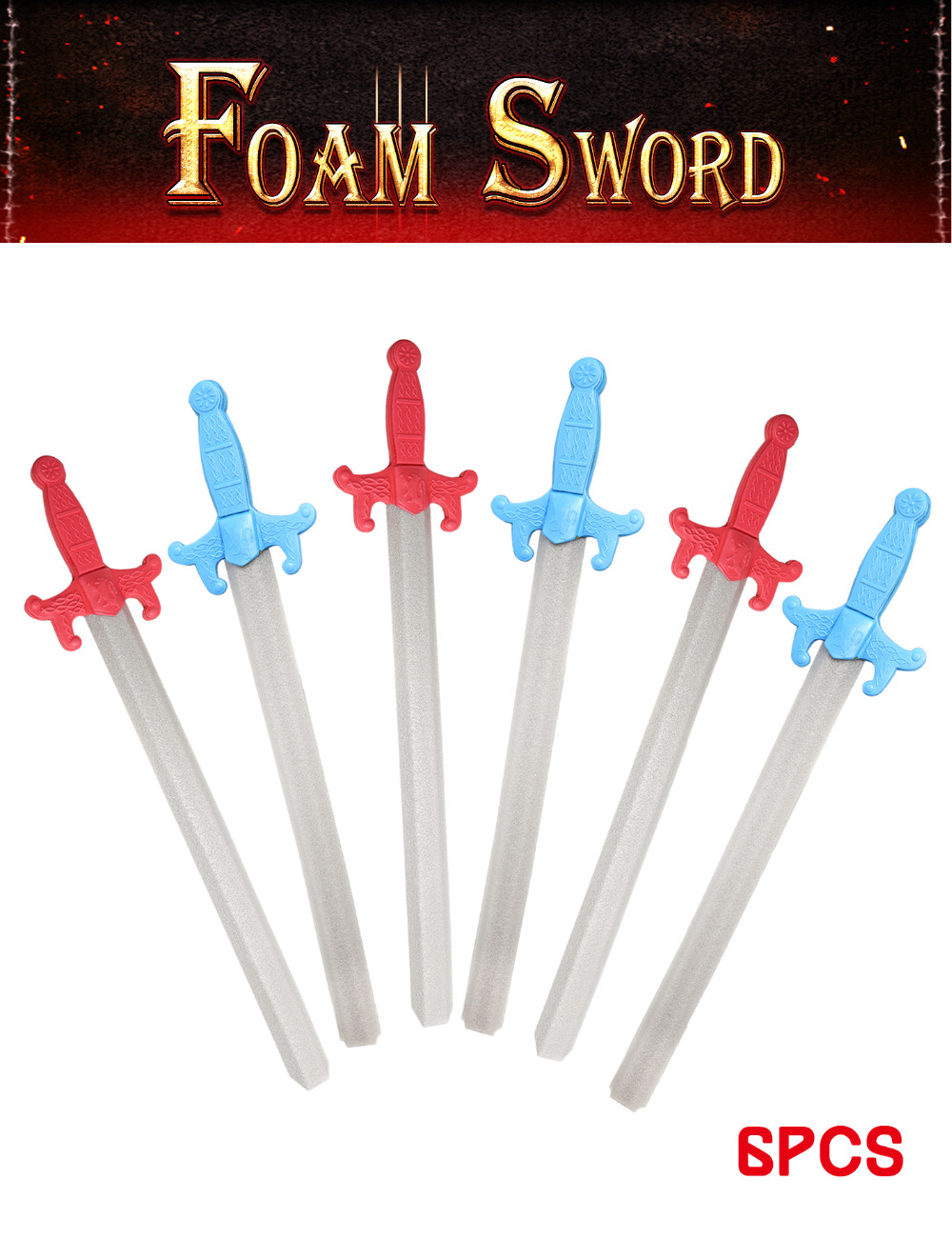 US $26 0 |Aliexpress com : Buy 6PCS Assorted EVA Foam Toy Swords Model  Playset Warrior Weapons Model Toy Pretend Play Outdoor Fun Sports Toys Set  for