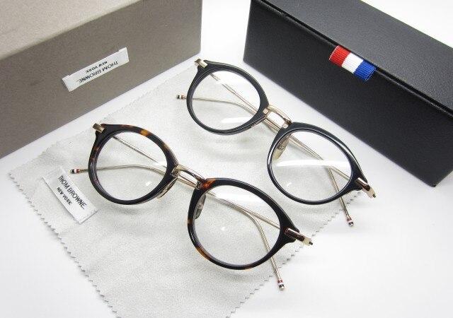 49fa299cc2cb Tb011 thom browne classic round box plain mirror myopia eyeglasses frame