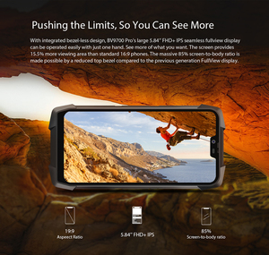 """Image 5 - Blackview BV9700 プロ IP68/IP69K 頑丈な携帯エリオ P70 オクタコア 6 ギガバイトの RAM 128 ギガバイト ROM 5.84"""" ips の Android 9.0 4 グラム顔 Id"""