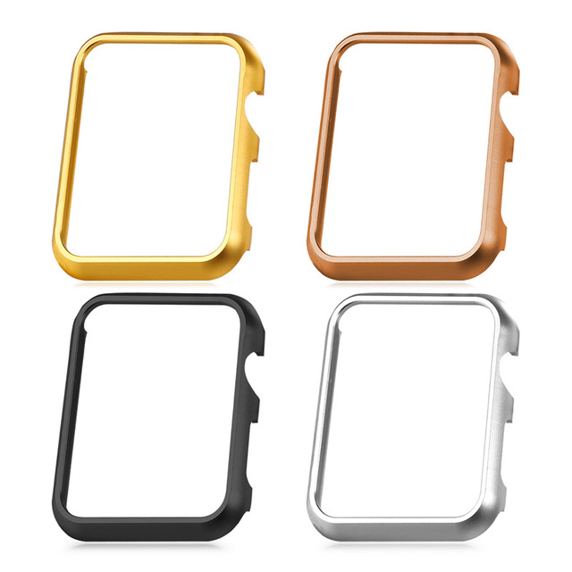 Gran venta 4 unids estuche protector para apple watch series 2 y 1 42mm/38mm de Platino/Oro Amarillo/Oro Rosa Plateado Negro Nuevo S1756