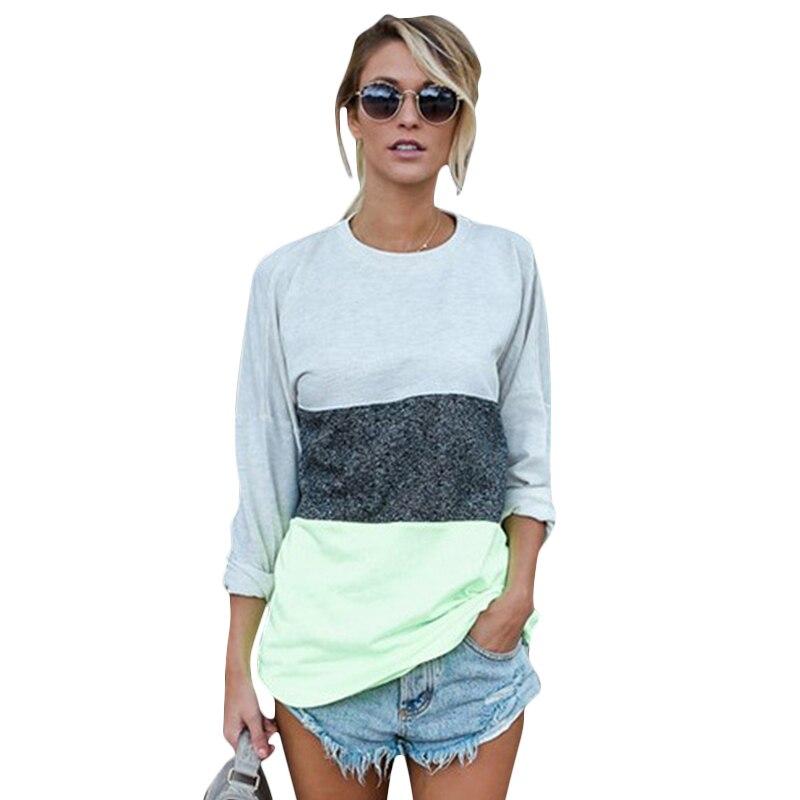 Donne casuali T-Shirt Tunica Top Tee Shirts Manica Lunga Autunno Inverno Abiti Da Lavoro Blusa Tee Shirts WS3213Z