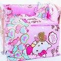 5 Pcs/sets baby bedding set 110x65cm cotton curtain crib bumper baby cot sets baby bed bumper