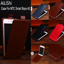 AiLiShi Factory Direct! Case For MTC Smart Race 4G Leather Case Flip 100% Special Phone Bag With Card Slot + Tracking