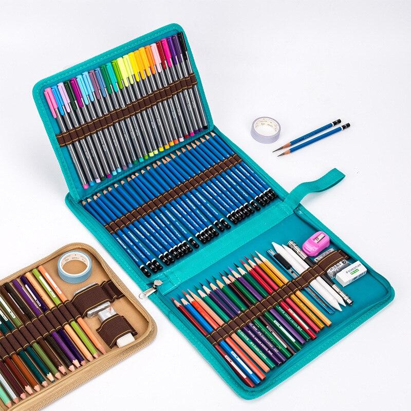 La escuela lápiz caso/36/48/72 agujeros Pencilcase bolsa de profesión, caja de la pluma de Penal para chico chica arte marcador de almacenamiento de la bolsa de las sanciones