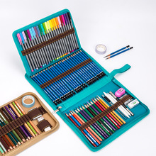 School Pencil Case Canvas 36/48/72 Holes Pencilcase Bag Profession Pen Box Penal for Boy Girl Art Marker Storage Pouch Penalties
