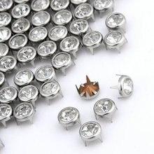 Полезные 100x7 мм металлические стразы Шипованные серебряные шпильки круглые шпильки Кристальные заклепки