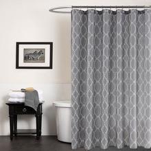 Europe Gray Bath Curtain Waterproof Geometric Printed Fabric Shower Curtains 70x72Inch Stocked Home Bathroom Accessories