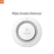 Sıcak Şimdi Xiaomi Mijia Honeywell yangın alarmı Dedektörü Sesli Ve Görsel Alarm Ile Çalışmak Ağ Geçidi Duman Dedektörü Akıllı Ev Uzaktan Kumanda