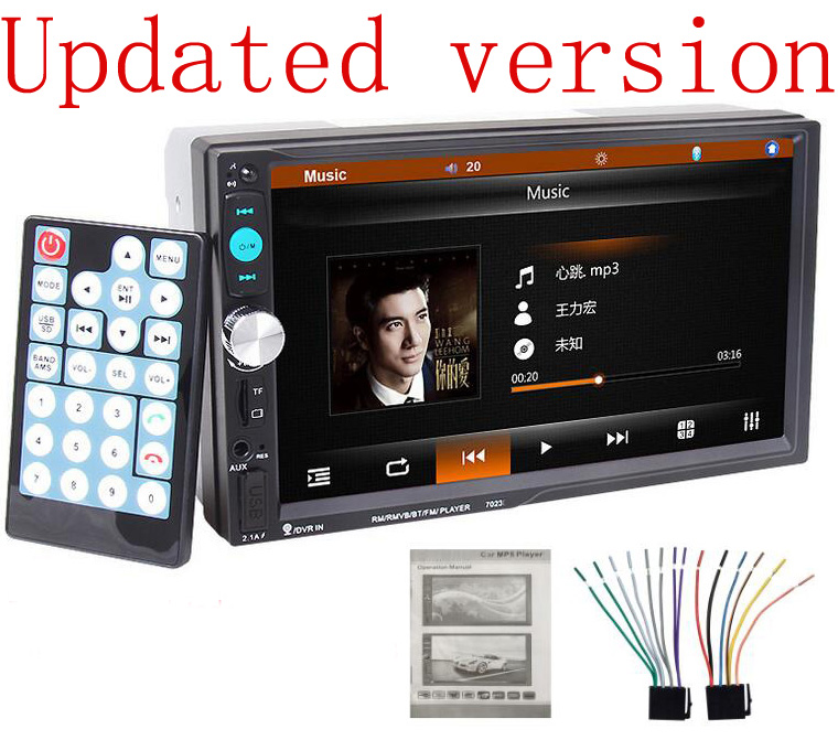 2016 Universal Car Radio Double 2 din Car DVD Player  in Dash Car Stereo video support rear view camera