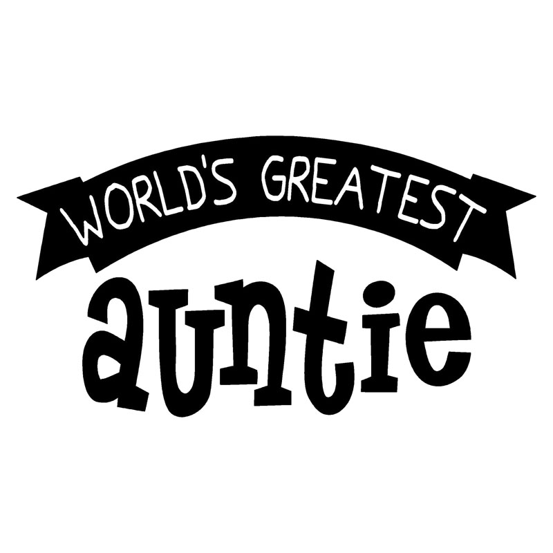 18X9.9CM WORLDS GREATEST AUNTIE Vinyl Graphic Decal Car Sticker Car-styling S8-0668