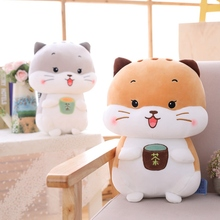 Hot 1pc 25-45cm Tea Cup Cat Rat Plush Pillows Soft Stuffed Animals Cushion Sofa Decor Cartoon Plush Toys For Children Kids Gift недорого