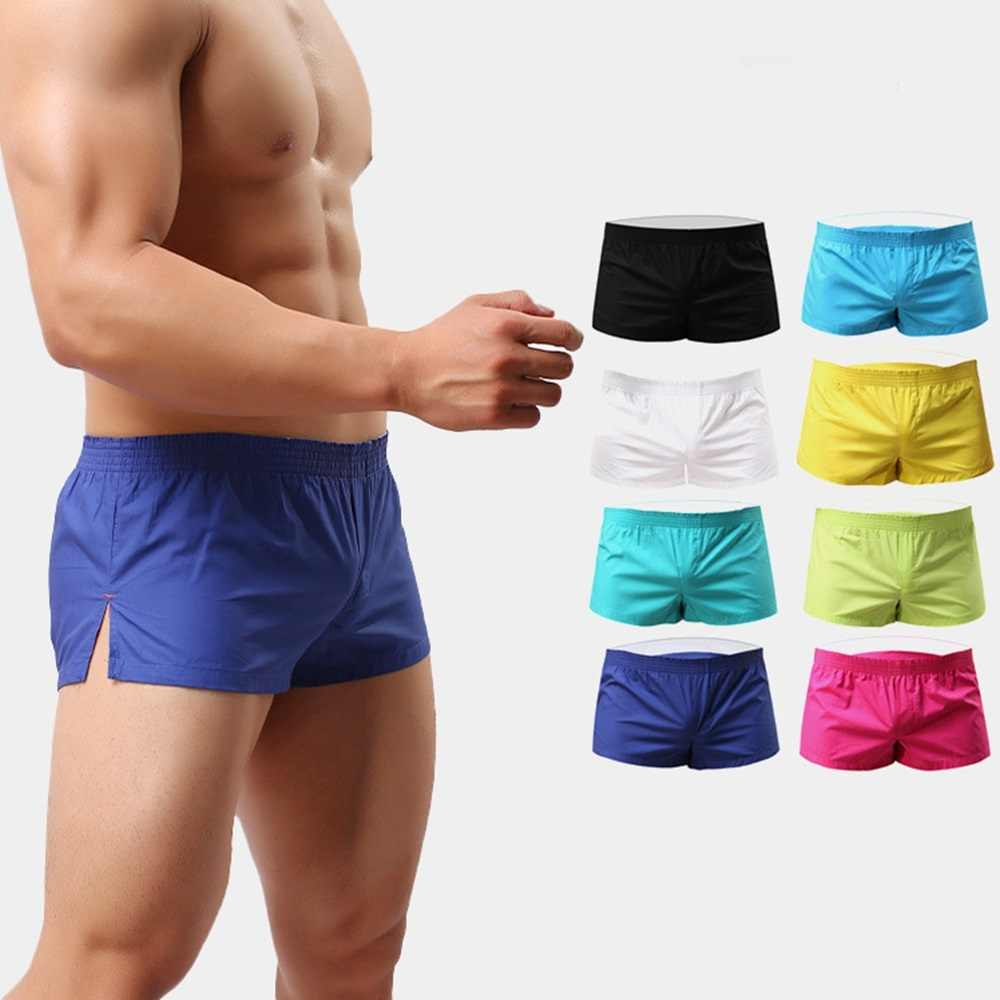 9007d1834b43 10Pack Brand Sexy Mens Underwear Boxer Shorts Trunks Gay Penis Pouch Home  Sleepwear Print Short Panties
