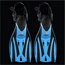 Children Swim Fins Adjustable Diving Frog Shoes Silicone Professional Team Training Snorkeling Long Kids Flippers