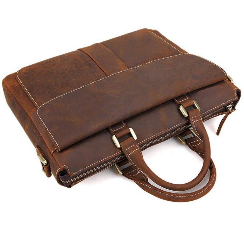 Herren Leder Für Zoll Top Braun Brown Männer Büro Portfolio Tasche Männlichen Kleid Aktentasche Taschen Horse Anaph In Laptop Qualität 14 Crazy t7HFSqHI