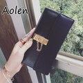 Aolen кошельки женские 2016 натуральная кожа бумажник женщины кошелек сцепления короткий женский женские кошельки кошельки сумки с бахромой