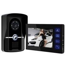 "Big discount Free Shipping! 7"" Video Intercom 1000TVL IR Night Vision Video Door Phone Waterproof Camera Monitor & Rain Cover With Doorbell"