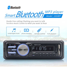 RS-1010BT 1 Din Bluetooth Vehicle Car MP3 Player Stereo Audio Player with FM Radio AUX SD Card U Disk Play LCD Remote Control 1 din 12v car radio player bluetooth stereo fm retro radio player auto u disk plug in autoradio vehicle dvd machine 2019 new