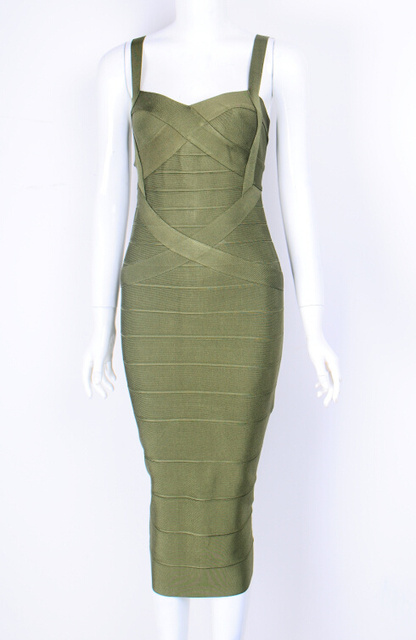 2016 top quality New arrival color olive green knee length Bandage Ladies  Bandage Party Dress dropship   wholesale 2c907e93020b