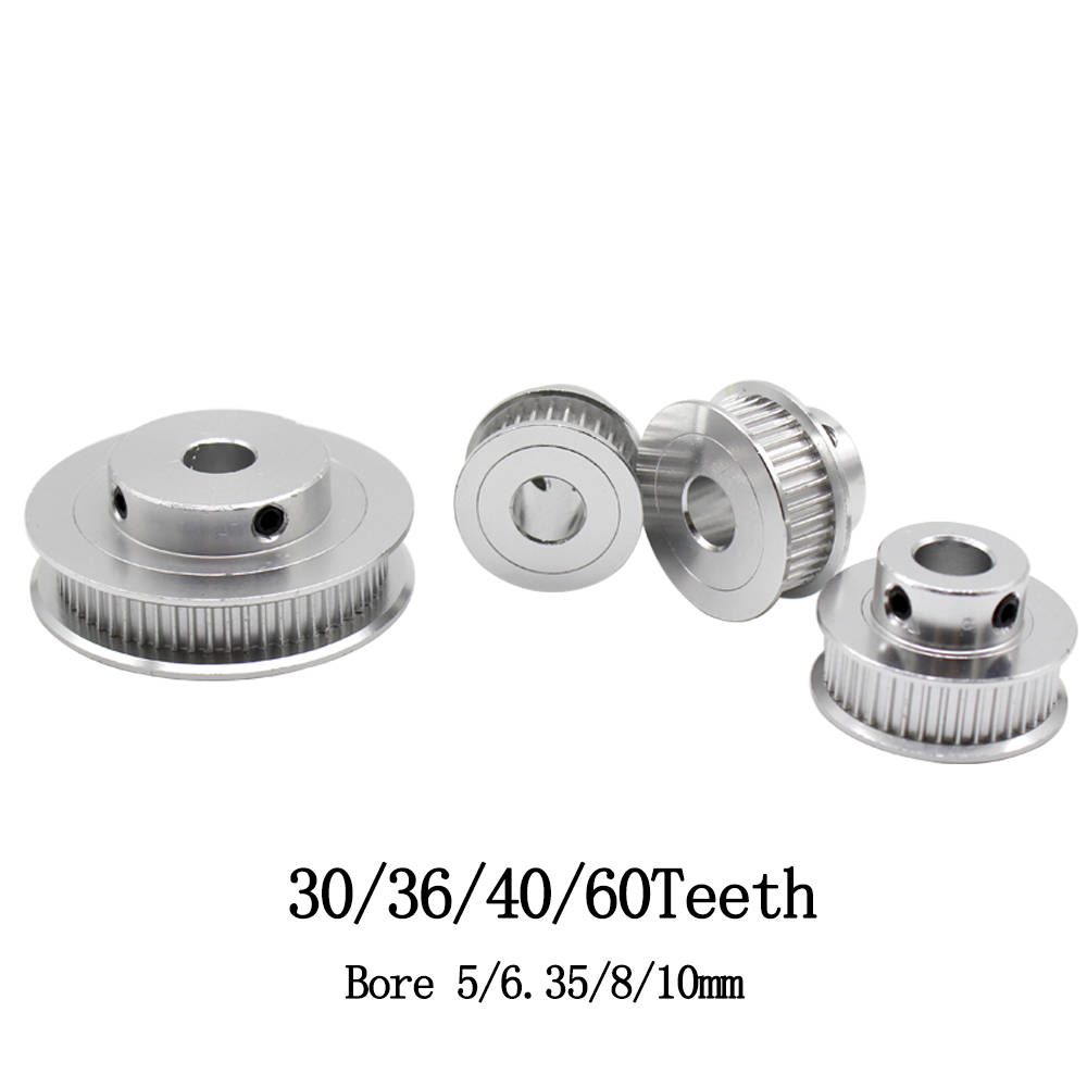 80 Tooth - 5mm Bore 16 20 30 36 40 60 80 Tooth 5mm to 12mm Bore GT2 6mm Timing Belt Aluminium Drive Pulleys