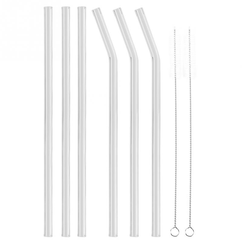 Reusable Drinking Straw perfect for drinking hot and cold drinks coffee Drinking Straw With Cleaner Brush