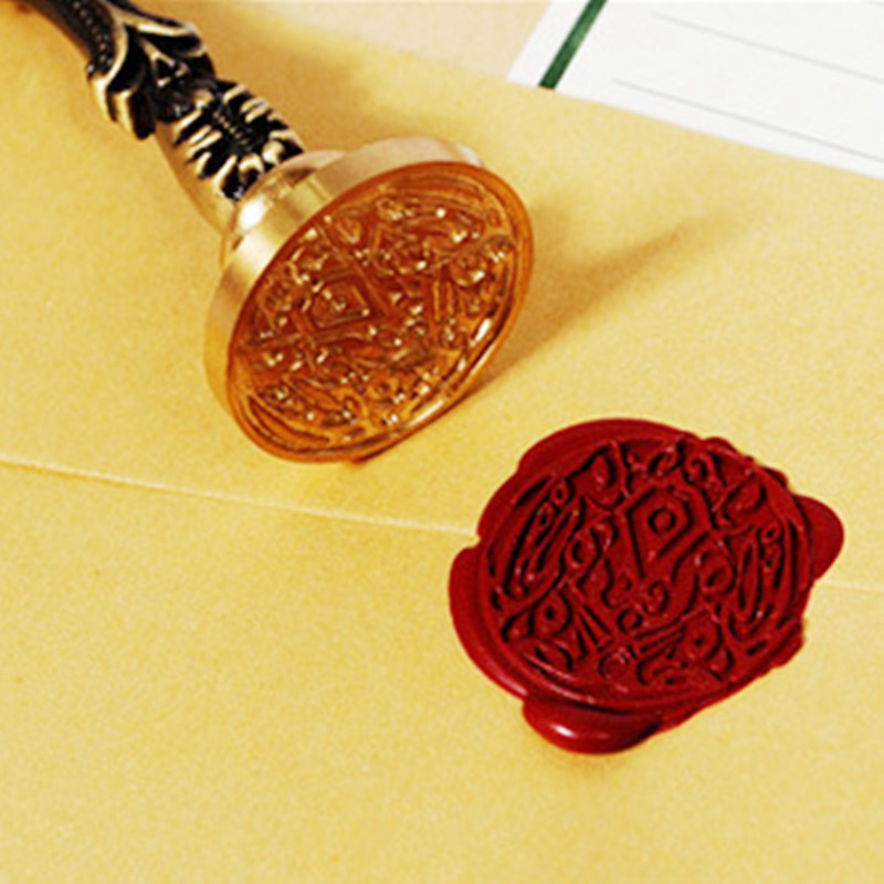 Hot Sale 1Pc Antique Plants Greetings Metal Sealing Wax Seal Stamp For DIY Wedding Invitations Decor Ancient Wax Stamp Craft