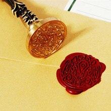 Горячая 1 шт. античные растения поздравления металлический уплотнительный воск печать штамп для DIY Свадебные украшения для приглашений древний воск штамп ремесло