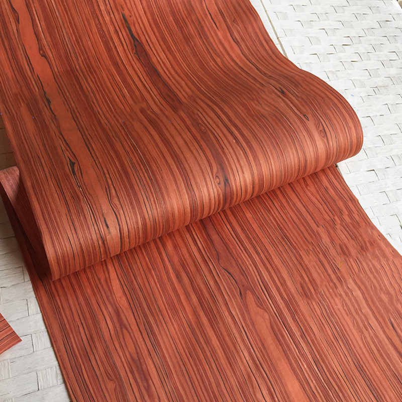 Technical Veneer Sliced Wood Engineering Veneer E.V. Red Santos Rosewood 60x250cm Tissue Backing 0.2mm C/C