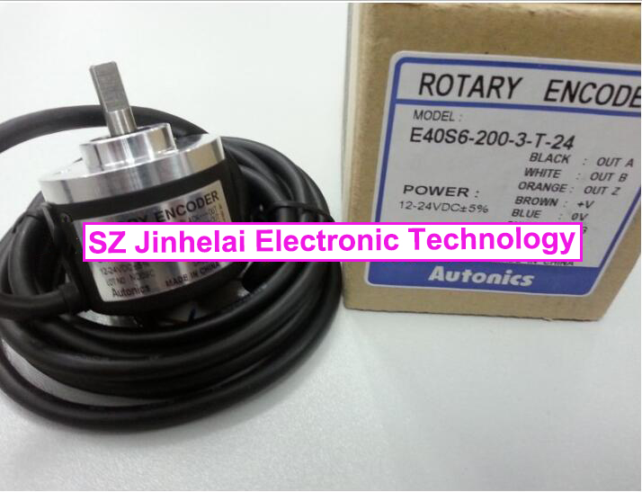 100% Authentic original E40S6-200-3-T-24 Autonics ENCODER 100% authentic original e40s6 2500 6 l 5 autonics encoder