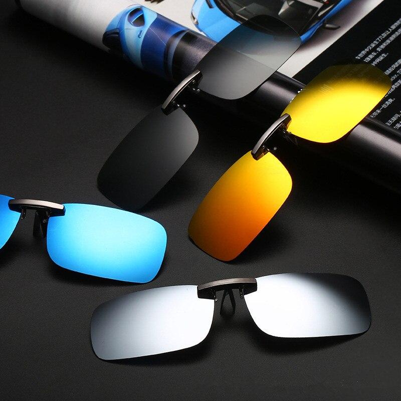 Vazrobe Clip sur lunettes de Soleil Hommes Femmes Polarisées Conduite Lunettes Homme Nuit Vision Anti Éblouissement pour Dioptrique Pilote Ultra-léger lentille