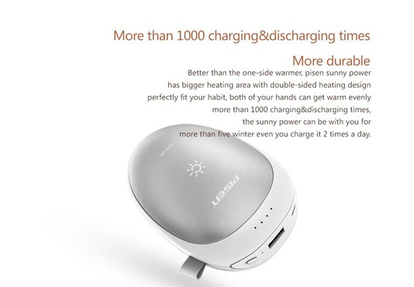 New PISEN 7500mah Hand Warmer Power Bank (11)