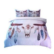 Комплект постельного белья из 3 предметов, пододеяльник, покрывало в стиле бохо, постельное белье, Прекрасный Принт, теплый матрас для спальни, topper isolon, цветной
