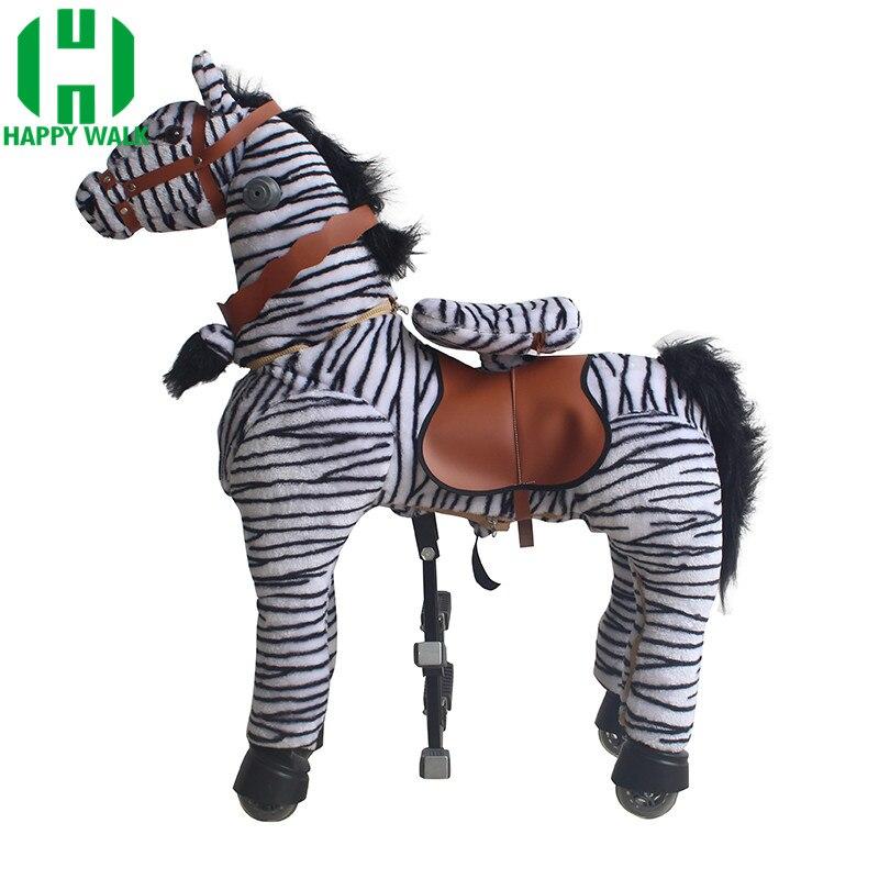Balade mécanique à cheval sur des jouets pour animaux pour 7-14 ans enfants adultes marche poney zèbre jouets promenades cheval Scooter cadeaux pour enfants - 2
