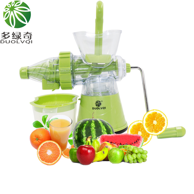 DUOLVQI High Quality Home Manual Juicer,Fruit Squeezer,100% Healthy Natural Fruit Juice,Easy To Operate,Ice Cream Maker Mold