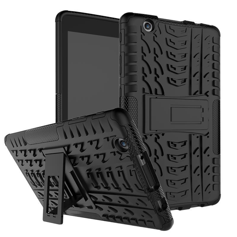 Hybrid Kickstand Hard PC + Soft Silicon Armor Case För LG G PAD3 / - Reservdelar och tillbehör för mobiltelefoner