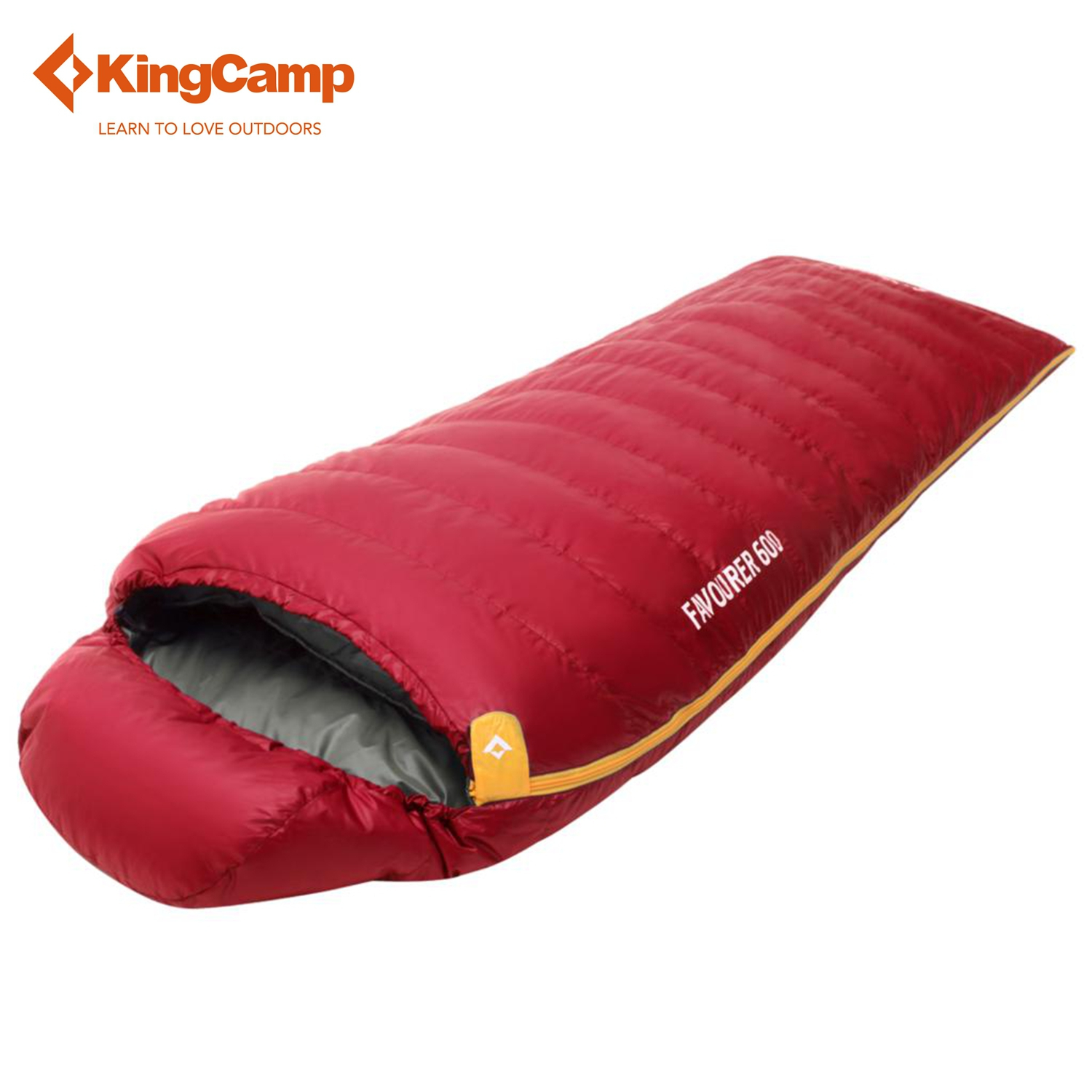 KingCamp Envelope Sleeping Bag for Outdoor Trekking Winter Down Sleeping Bag with Hood for Camping Hiking Five Colors creeper cr sl 002 outdoor envelope style camping sleeping bag w hood royalblue dark blue