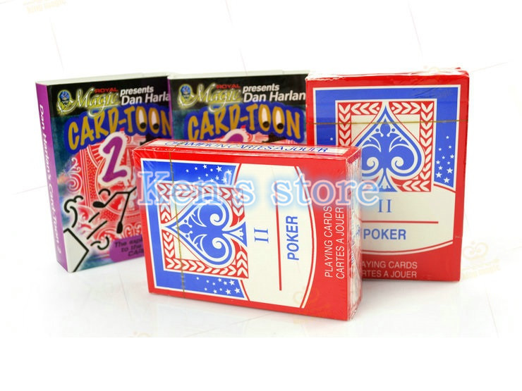 Card toon Cartoon Magic Cards Deck v2 Playing Card Poker Close Up Magic Tricks for Professional Magician Animation Puzzle Toys in Magic Tricks from Toys Hobbies