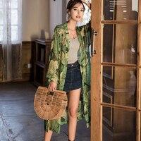 Women Maxi Long Chiffon Kimono Cardigan Blusa Feminina Casual Shirts Flora Print Bohemian Beach Tops blusa femin jn409