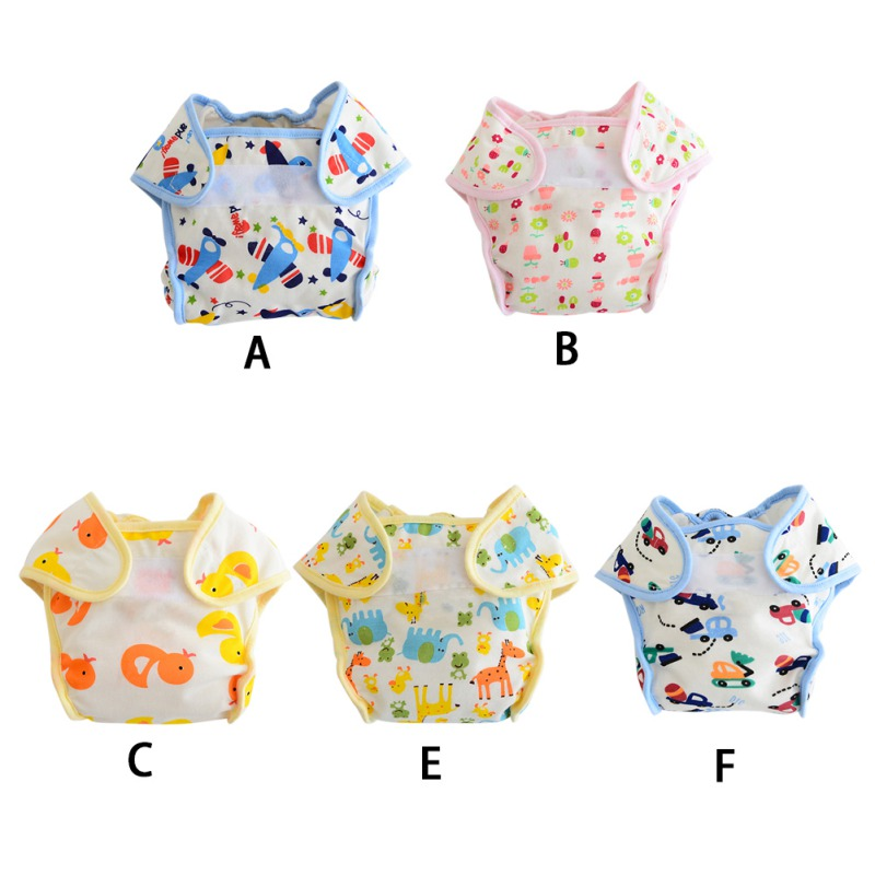 Baby Diapers Reusable Nappies Cloth Diaper Nappy Washable Toddler Girl Boys Baby Waterproof Cotton Potty Training Pants 3-10KG