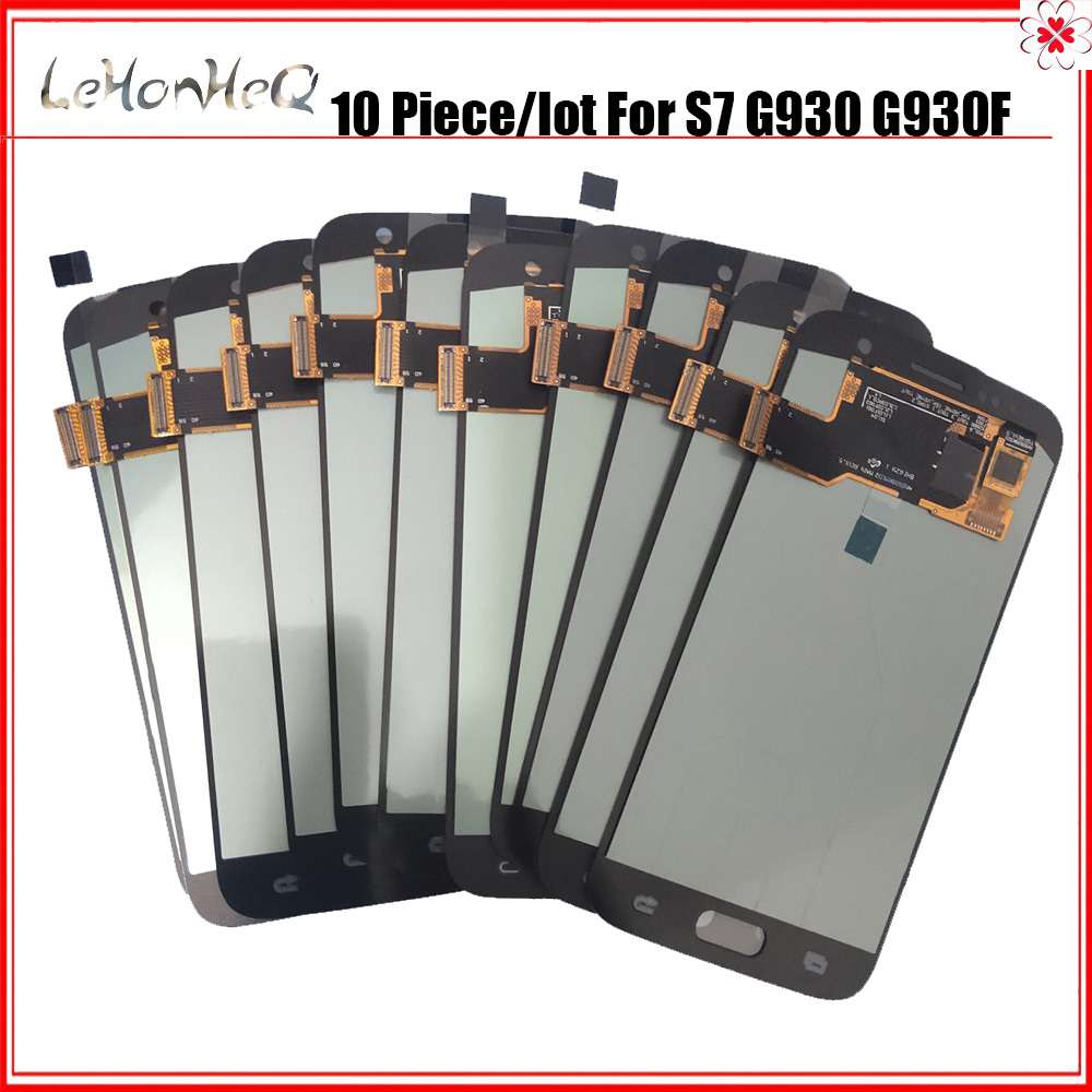 10 Pieces/lot LCDs For Samsung Galaxy S7 G930 G930F Display Touch Screen Digitizer Assembly LCD For Samsung S7 G930 SM-G930 LCD