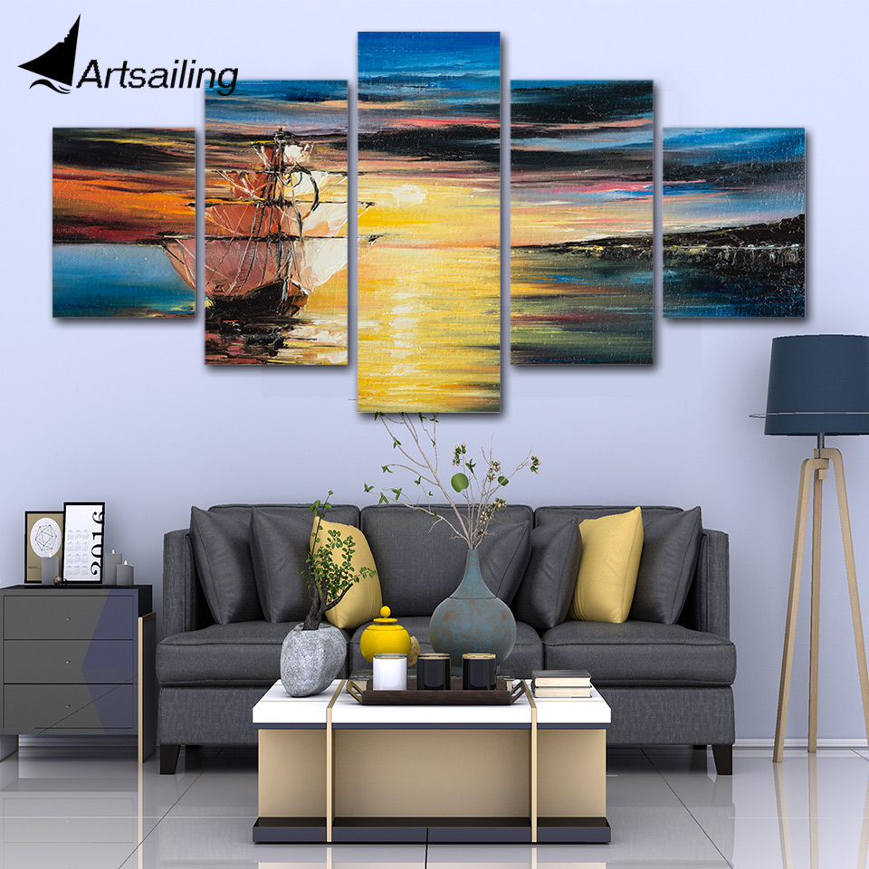 Wall Art Poster Modular Canvas Hd Prints Paintings 5