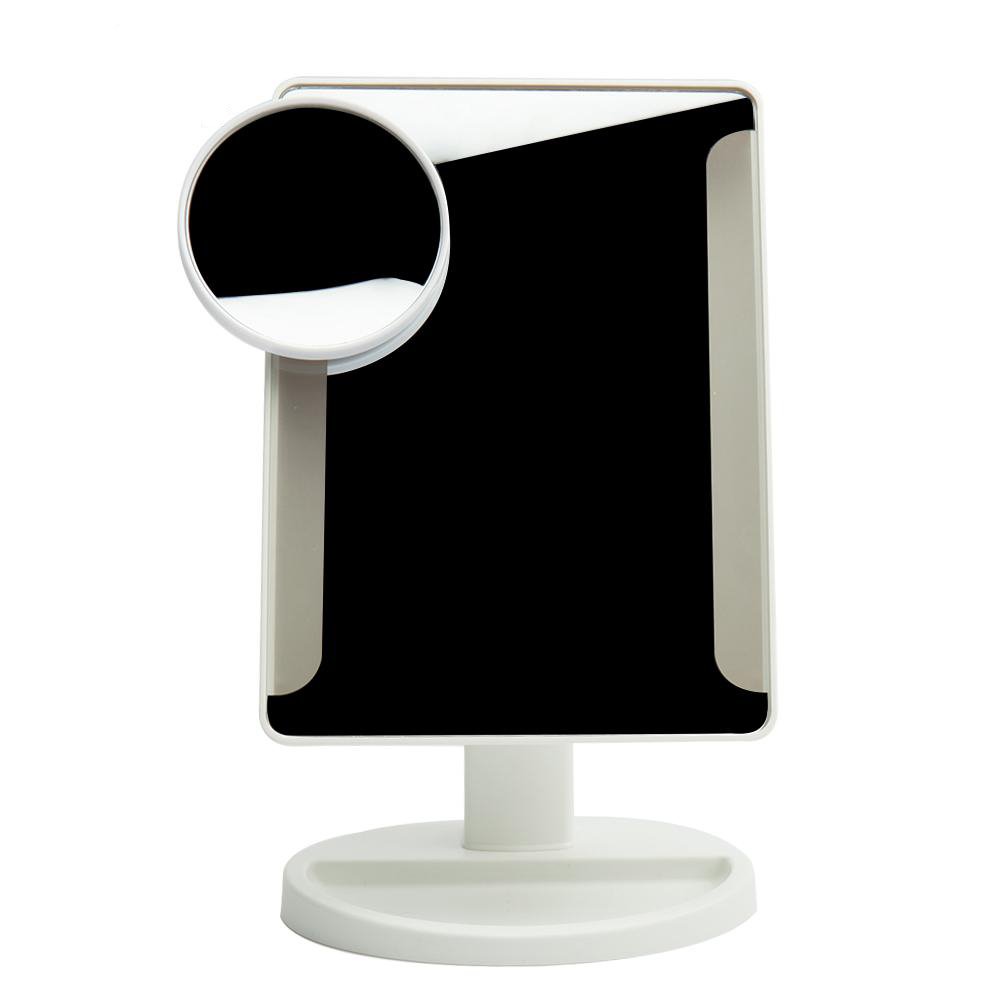 Adjustable 36 Led Light Makeup Mirror With Sucker 10x Magnifying Square Vanity