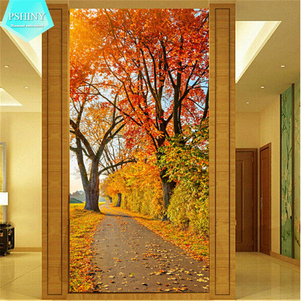 Pshiny 5d diy diamond diamond embroidery maple for Home decor s13 9ad