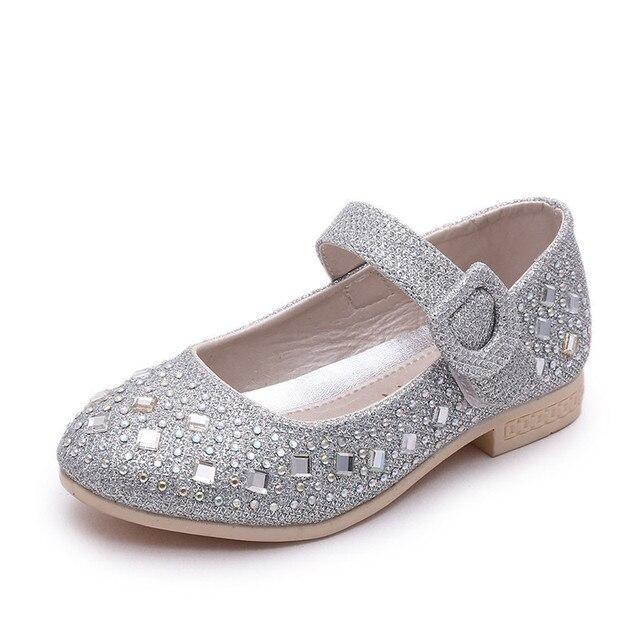 Новая Осень 2016 ChildrenShoes Горный Хрусталь Украшения Мода Обувь для Девочек Марка Кроссовки Дизайнер Одноместный Весна Обувь для Девочек сандалии