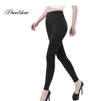 Super Elastic Casual Pants 2016 Best Sale Women S Solid Pencil Pants Slim Skinny Stretch Warm