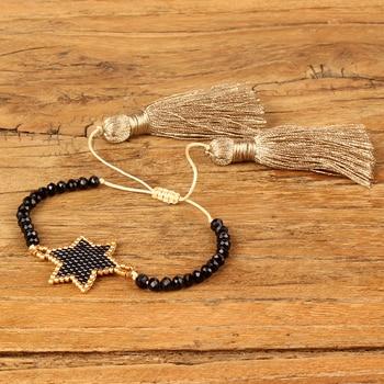 9053ba3d0425 Go2boho pulsera para Mujer MIYUKI joyería Pulseras Mujer Moda Dropshipping  2019 nuevo oro estrella Pulseras borla regalo hecho a mano