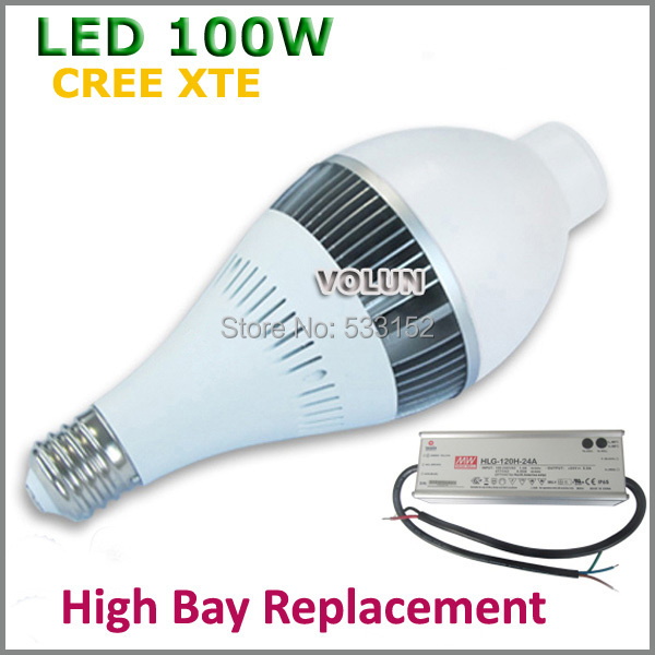 Led High Bay Light Meaning: High Bay Bulb Light 100W CREE XTE LED With External Mean