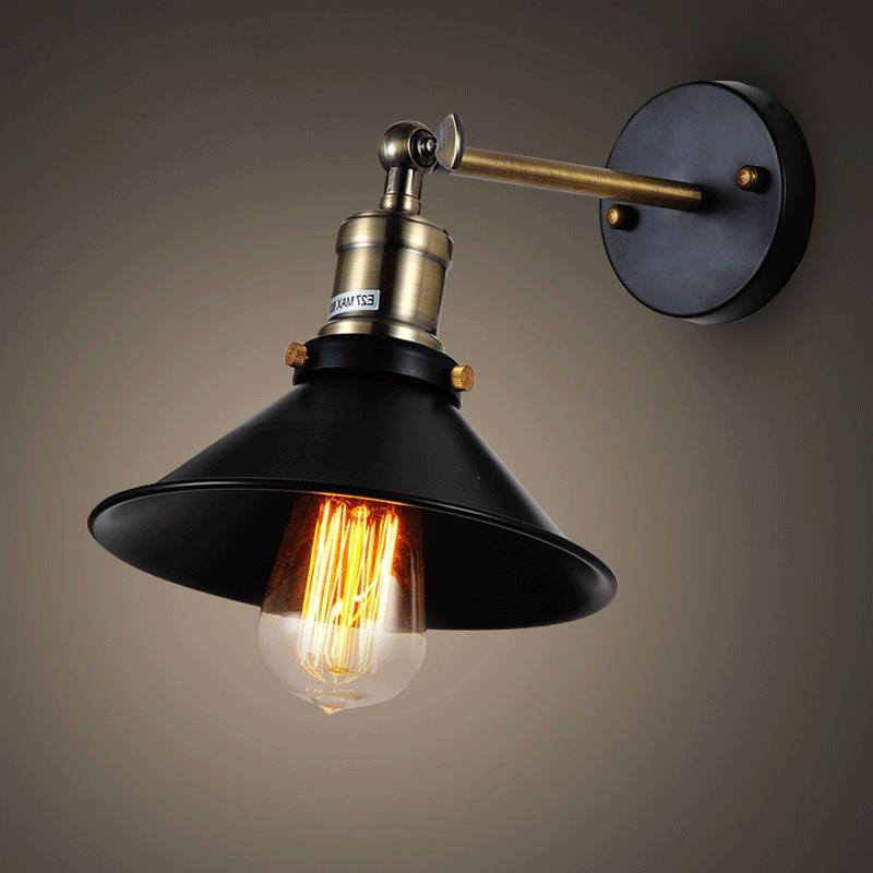 Vintage Loft Adjustable Industrial Metal Wall Light Retro
