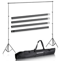 Neewer Photo Studio Backdrop Support System Background Stand Kit With Adjustable Cross Bar And Backdrop Stand